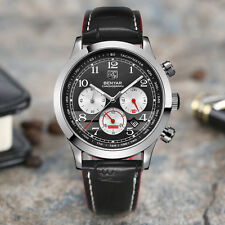 BENYAR 30M Water Resistant Genuine Leather Men Aviator Japan Quartz Wrist Watch