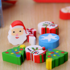 35pcs Eraser Santa Christmas Tree Snowflake Xmas Cartoon Gift Stationery School
