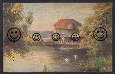 357R  Künstler  AK  Ansichtskarte      Gemälde Haus am See