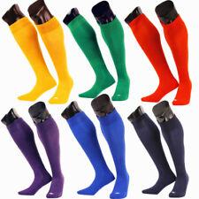 Mens Boys Sports Football Soccer Rugby Plain Long Knee Socks Cotton Stocking KUS