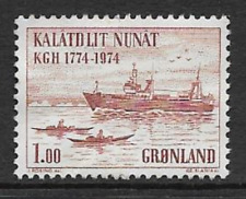 GREENLAND ISSUE - MINT COMMEMORATIVE STAMP 1974 - ROYAL TRADE CORPORATION