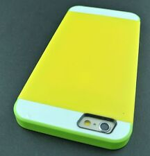 """YELLOW GREEN MULTI TONE HYBRID SKIN CASE COVER FOR APPLE IPHONE 6 6S 4.7"""""""