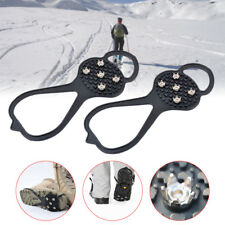 1Pair Silicone Climbing Anti Slip Shoe Grip Ice Snow Shoes Cleat For Ice Fishing
