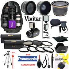 FULL HD ACCESSORY KIT LENSES BACKPACK TRIPOD FOR PANASONIC HC-V770K HD CAMCORDER