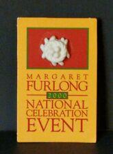 Margaret Furlong 2000 Porcelain Eggs in Bird Nest Lapel Pin ~ Beautiful Euc!