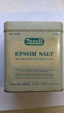 Vintage Rexall 1 POUND Epsom Salt Advertising Tin
