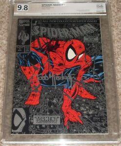 1990 Marvel Comics Spider-man 1 Silver PGX 9.8 Stan Lee/McFarlane Signed CGC