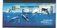 MAAT20) Australian Antarctic Territory 1996 Whales & Dolphins M/S Opt.'CAPEX MUH