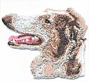 """2"""" x 2 3/8"""" Borzoi Dog Breed Portrait Embroidery Patch"""