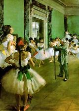 Edgar Degas Ballet Dance Class at the Opera.1872. Real Canvas 1st Class from UK