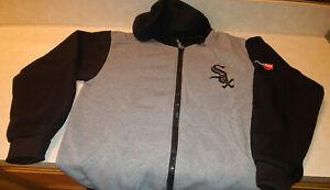 Chicago White Sox Zipper Hoodie Hooded Sweatshirt SGA Size M Fast Free Shipping