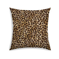 Leopard Digital Printed Satin Fabric Drawing Room Sofa Couch Pillow Case Throw
