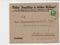 germany 1919 robus seal stamps cover ref 21051