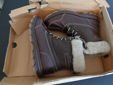 MARC ECKO Grierson Vale 24538 Brown NEW All Weather Boots 9.5 Leather Sherpa