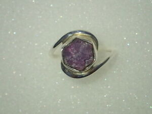 Beautiful Trapiche Like Ruby Natural Gemstone Handmade 925 Sterling Silver Ring