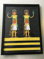 Vtg Mid Century/Hollywood Regency Native American Navajo Print Artwork Art