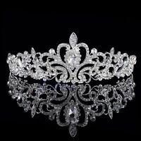 Princess Wedding Bridal Party Crystal Flower Hair Band Headband Tiara NEW