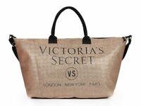Victoria's Secret Gold Metallic Ladies Beach Shopper Weekend Tote Bag lbag127