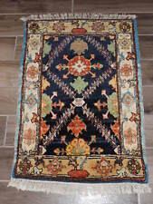 2x3ft. Afghan Exotic Semi Antique Chobi Wool Rug