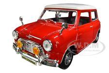 1961-1967 MORRIS MINI COOPER RED W/WHITE TOP 1/18 DIECAST MODEL MOTORMAX 73113