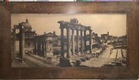 "ANTIQUE GREEK ORIGINAL PICTURE EARLY 1900's WITH FRAME 69"" X 39"""