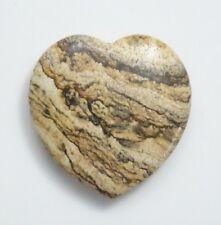 38x40mm Agate Heart Gemstone - Guyarat Mines - Specimen Crystal Heart Puff Heart