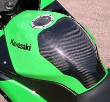 NINJA 250R EX250 08-12  TWILL CARBON TANK COVER BY CLEVER WOLF RACING JAPAN!