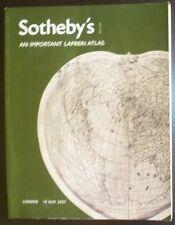 Auction Catalogue Sotheby's London Important Lafreri Atlas May 10th, 2007 Maps