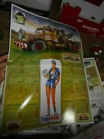 Poster Graphite Garage  Ancien Camion Dépanage & Pin-Up France Route Calendrier