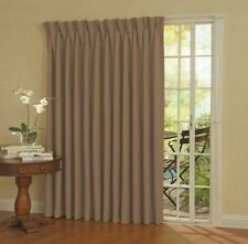Eclipse Thermal Blackout Patio Door Curtain Panel 100X84, Wheat