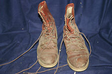 Vintage Justin Mens 9 E Brown Work Boots Lace up Style 517 broken in