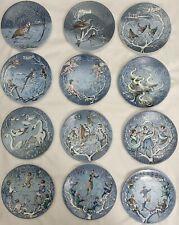 Haviland Limoges France collector plates, Vintage 12 days of Christmas Set.