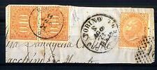 ITALIA - Regno - Segnatasse - 1869 - Ovale con dicit. e valore al centro coppia