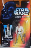 Star Wars Power of the Force LUKE SKYWALKER Grappling Mosc New Kenner Potf