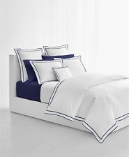 Ralph Lauren Home Spencer 300TC Cotton Sateen FULL/QUEEN Duvet Cover Navy $335