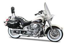 Harley DAVIDSON 1993 FLSTN Heritage softail Nostalgia 1:18 Noir Blanc