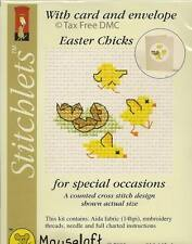 VAT Free Mouseloft Counted Cross Stitch Greeting Card Kit Easter Chicks New