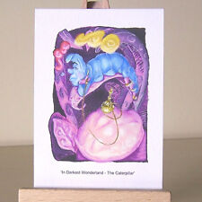 Alice in Wonderland Caterpillar ACEO Of Dreams and Magic drawing Art Card