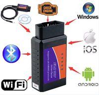 ELM327 USB Interface OBDII OBD2 Diagnostic Auto Car Scanner Bluetooth WIFI Wire#