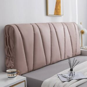 Elastic Bed Headboard Slipcover Dustproof Bedhead Cover Soft Leather Protector