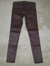 AG ADRIANO GOLDSCHMIED Legging Ankle Super Skinny Jeans Sz 24 Faux Leather WINE