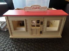 sylvanian families bakery complete with furniture and family