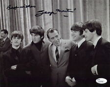 GEORGE MARTIN HAND SIGNED 8x10 PHOTO       ED SULLIVAN      THE BEATLES      JSA