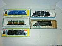 LOT OF FIVE HO TRAIN DIESEL ENGINES MIB