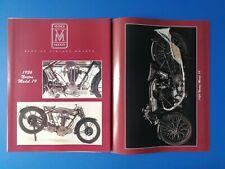 1926 Norton Model 19 Motorcycle - Original 2 Page Photo Poster