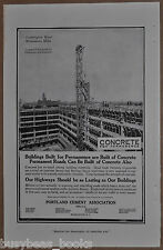 1917 Portland Cement advertisement, concrete, Leamington Hotel Minneapolis