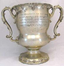 Antique Trophy Large Silver Plate Brewing Beer 1907 Wm Peter Brewery Hudson Hosp