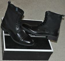 Robert Wayne Collection Quarry Army / Motorcycle Style Boots Sz 8 New with Box