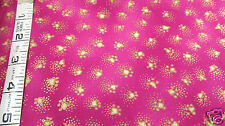 FQ Laurel Burch Fabulous Felines Fushia Paw Prints Basics Fat Quarter Fabric