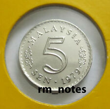 "MALAYSIA  5sen coin 1979 Parliament series ""BU"""